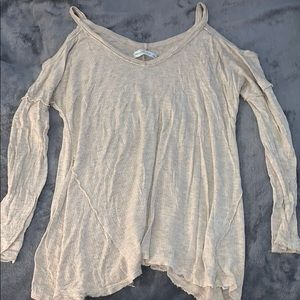 Abercrombie&Fitch Long Sleeve Cold Shoulder Blouse